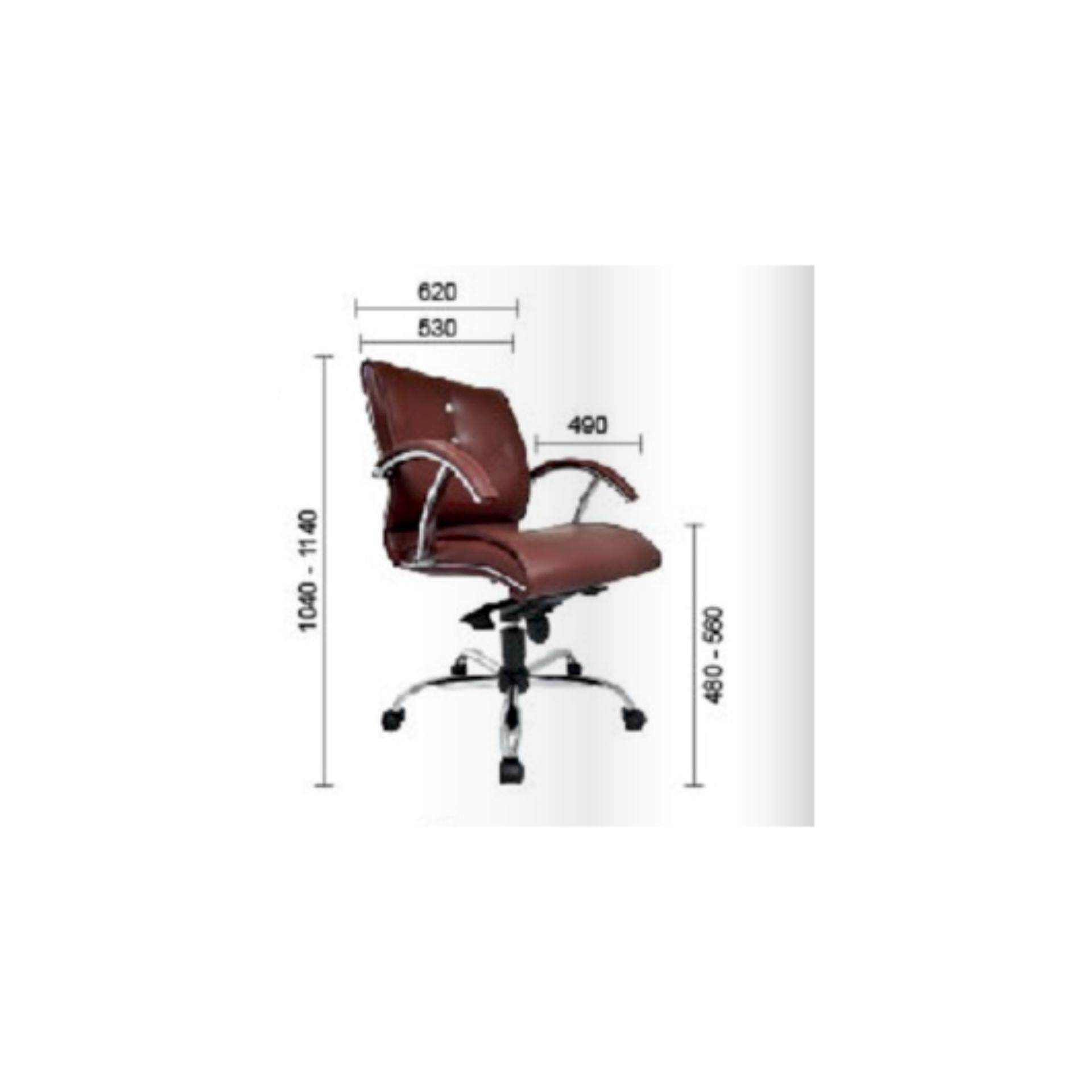 Deco Diamondia Office Chairs Leather Executive Low Back Recliner Computer Desk Swivel Chair ( Dark Maroon Color ) Pre-Order 2 Weeks