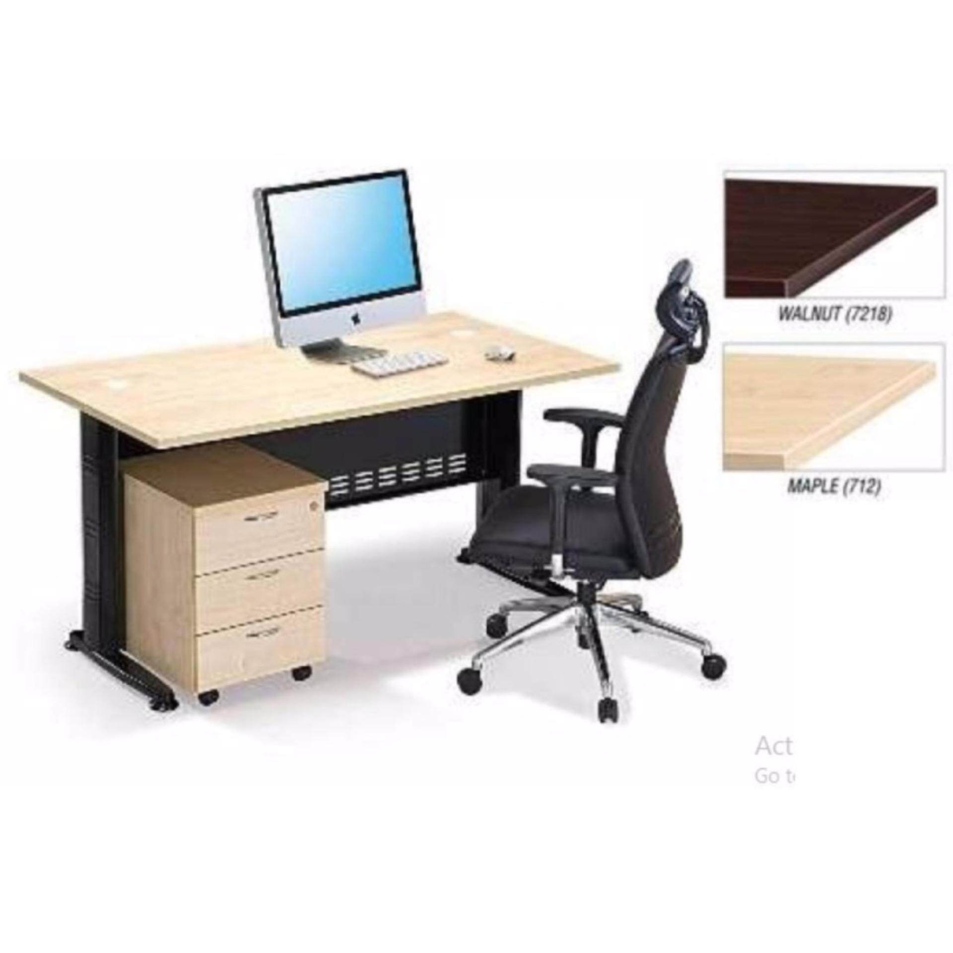 DECO OFFICE TABLE WITH MOBILE DRAWERS OFFICE DESK OFFICE MEETING TABLE DISCUSSION TABLE WRITING TABLE STUDY TABLE DIRECTOR TABLE BOSS TABLE CLERK TABLE STAFF TABLE MAPLE COLOR QT158