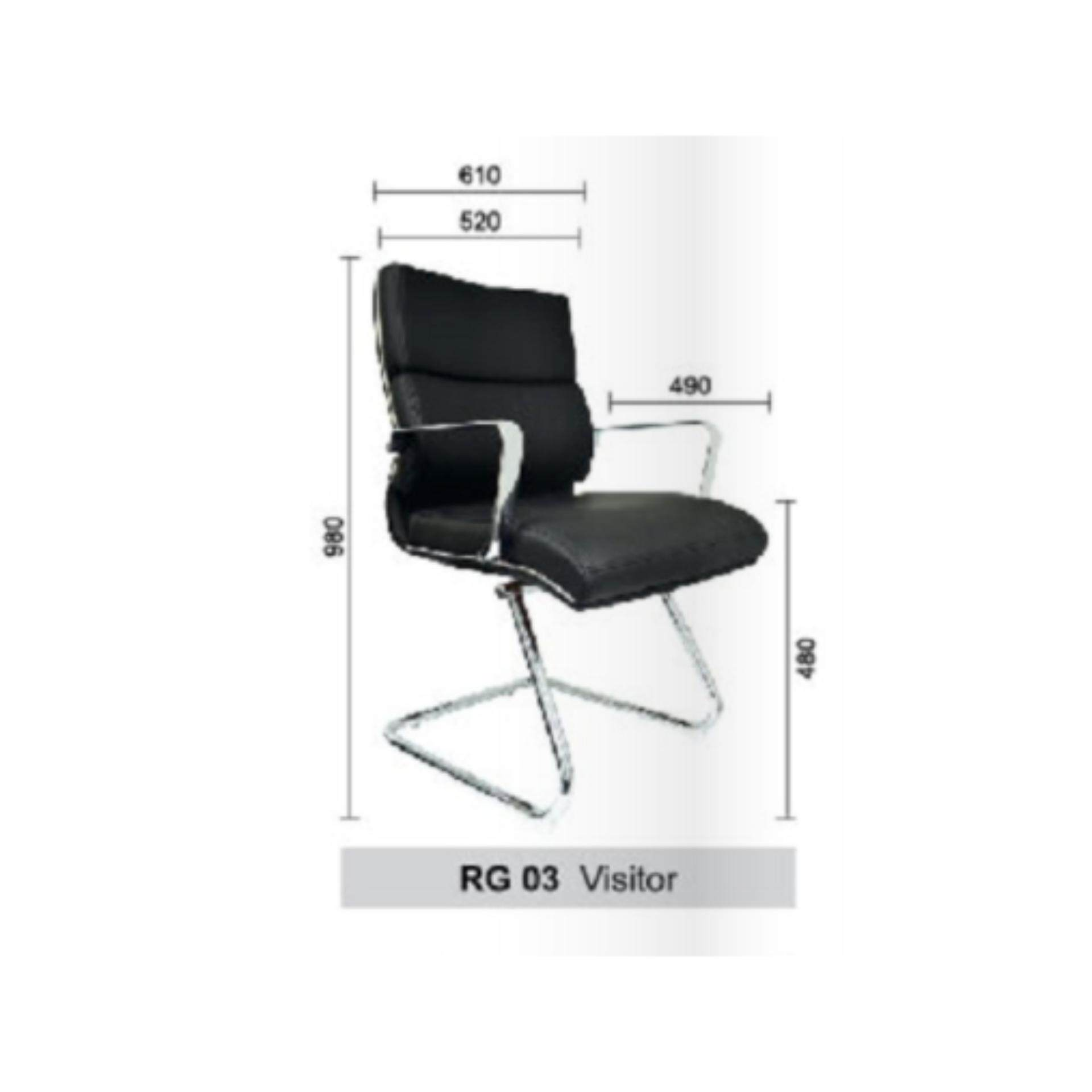 Deco Regalia Office Chairs Leather Executive Low Back Computer Desk Non-Swivel Chair ( Black Color ) Pre-Order 2 Weeks