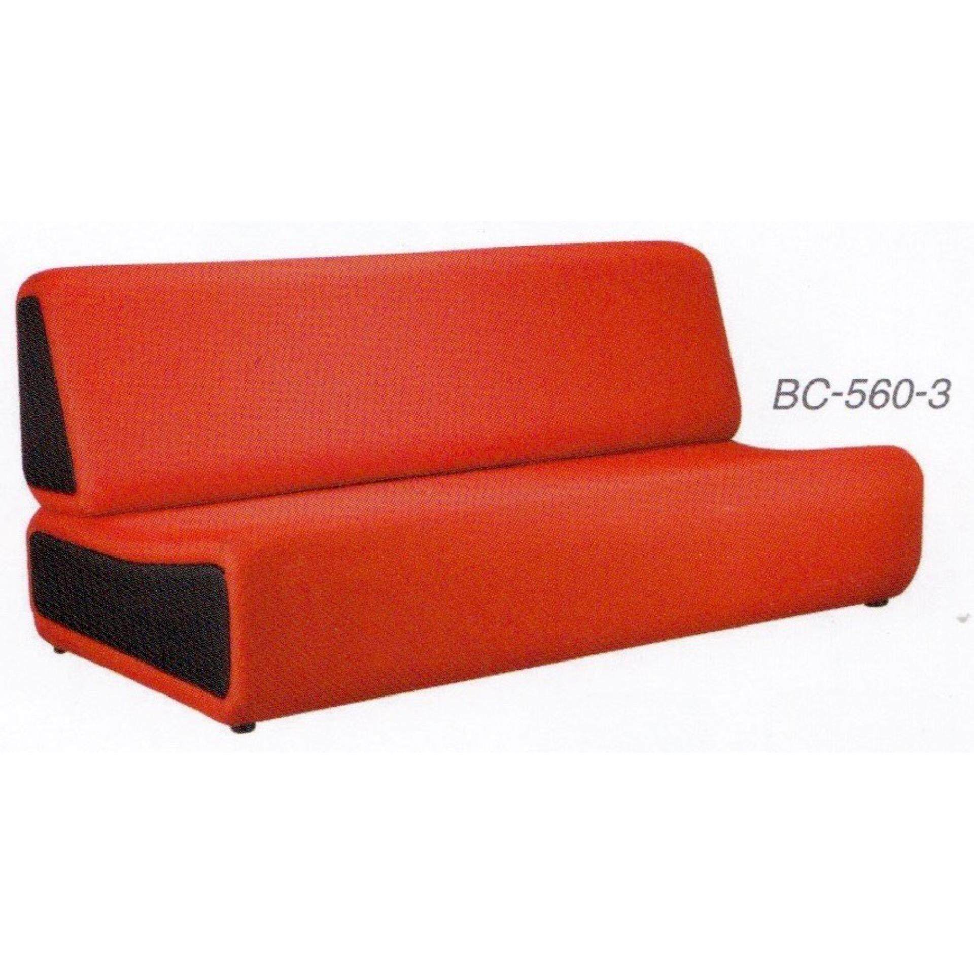Deco Waiting Area 3-Seater Cushion Link Chair Hall Clinics Office (Red Color) L1630MM X D820MM X H720MM Pre-Order 2 Weeks