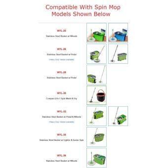 Digilife Easy Mop Spin Mop Microfiber Mop Cloth Refill 2 Pieces