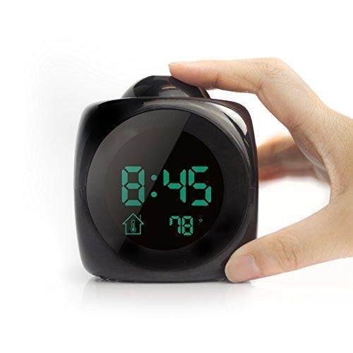 Digital LCD Alarm Clock Blue LED Backlight Calendar Thermometer Desk Table Clock