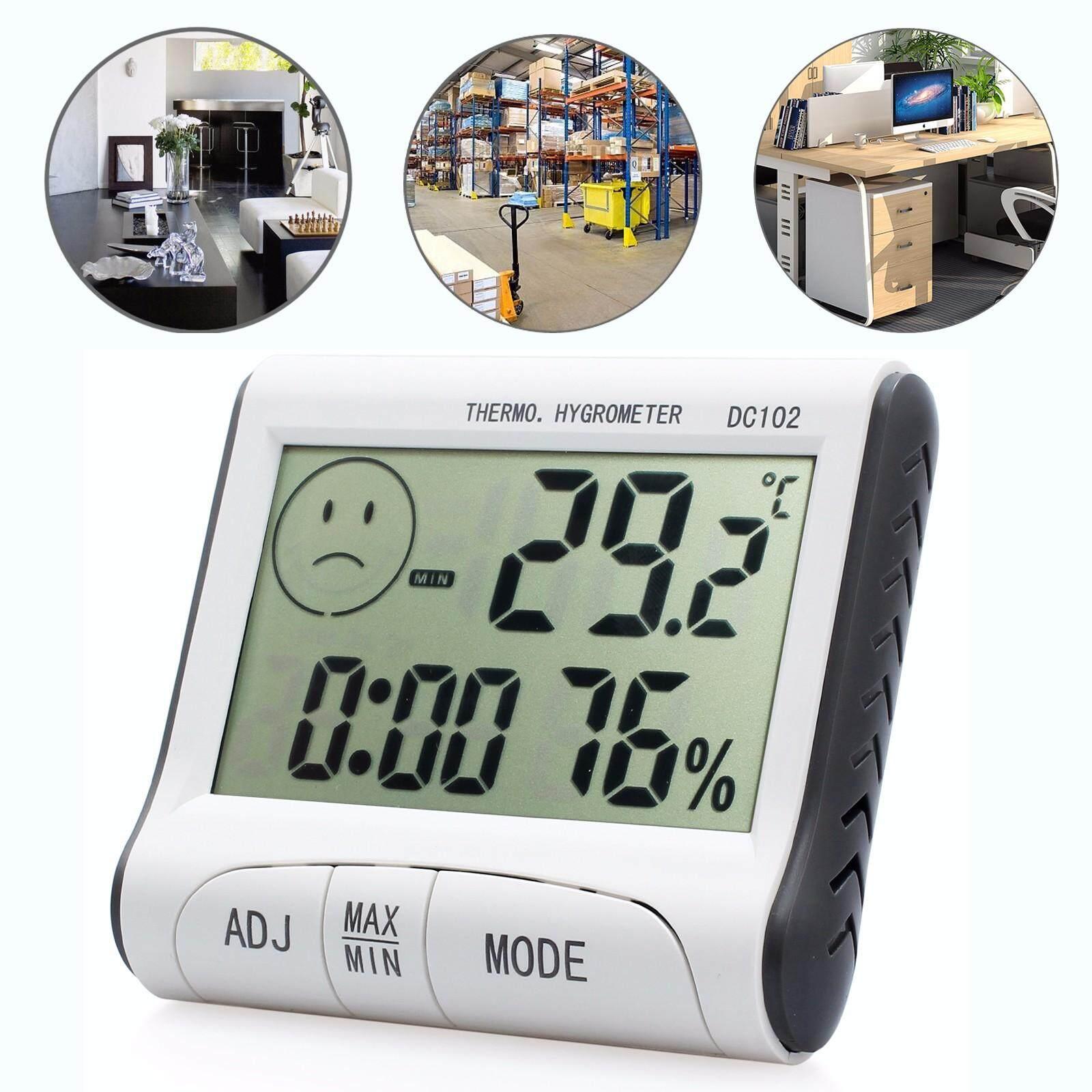 ... Termometer Suhu Higrometer Pengukur Kelembapan LCD Digital Dalam Ruangan Outdoor