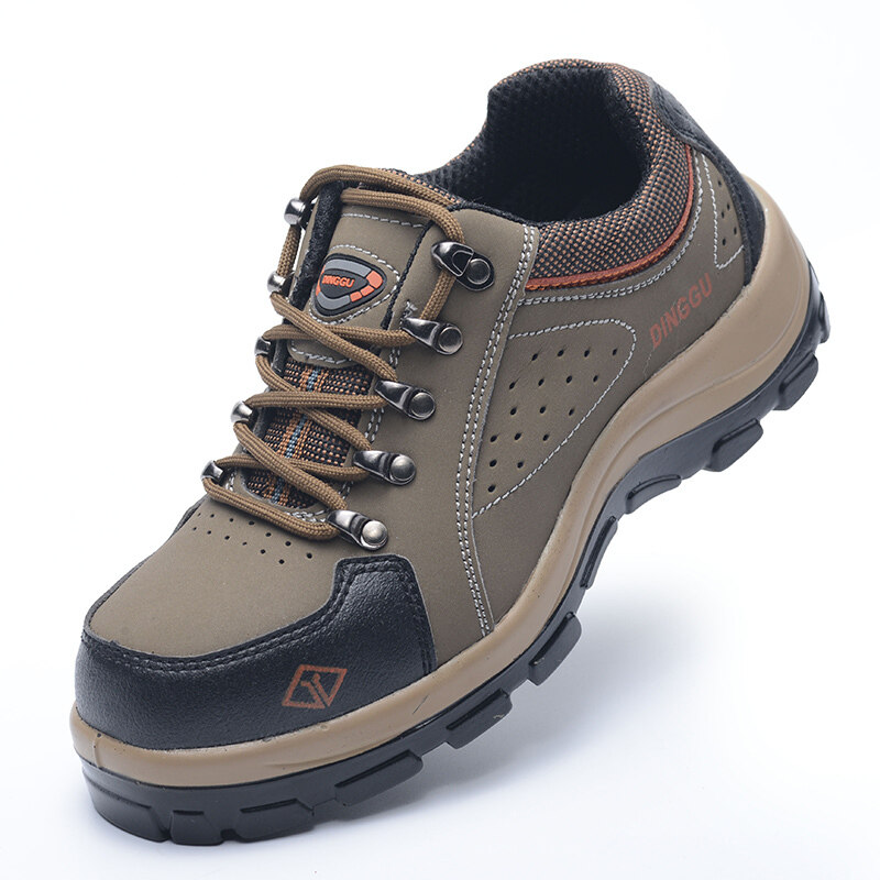 Buy Ding solid safety breathable deodorant safety shoes male steel header anti-smashing anti-stab wear non-slip work shoes summer site shoes Malaysia