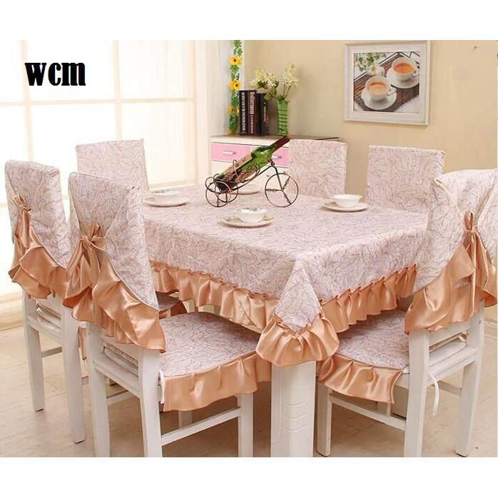 Dining LaceSet 6 kusyen & alas Kerusi + Alas Meja (150*200cm) WCM