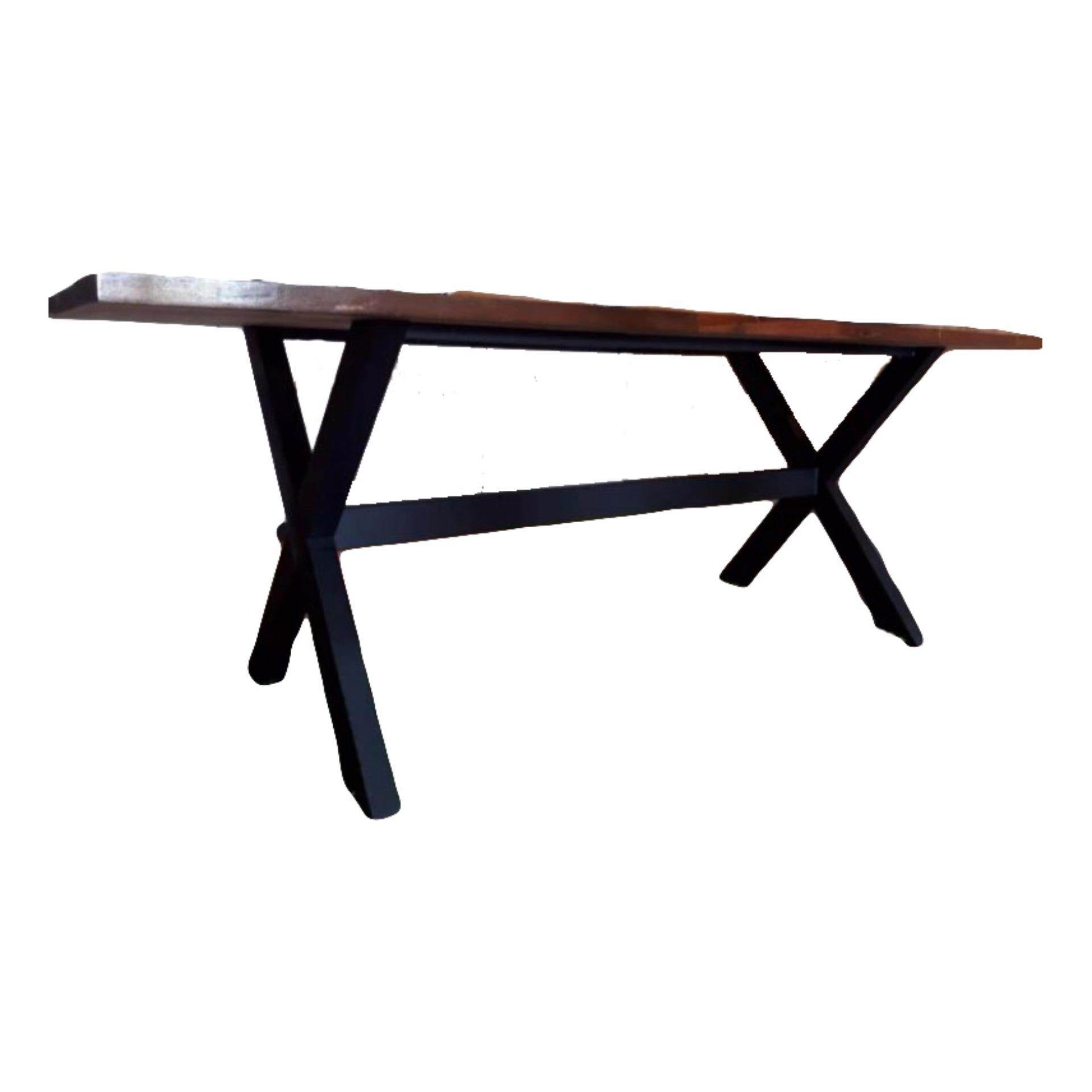 Dining/Meeting table with Meranti wood (brown) (7ft X 3ft X 2ft)