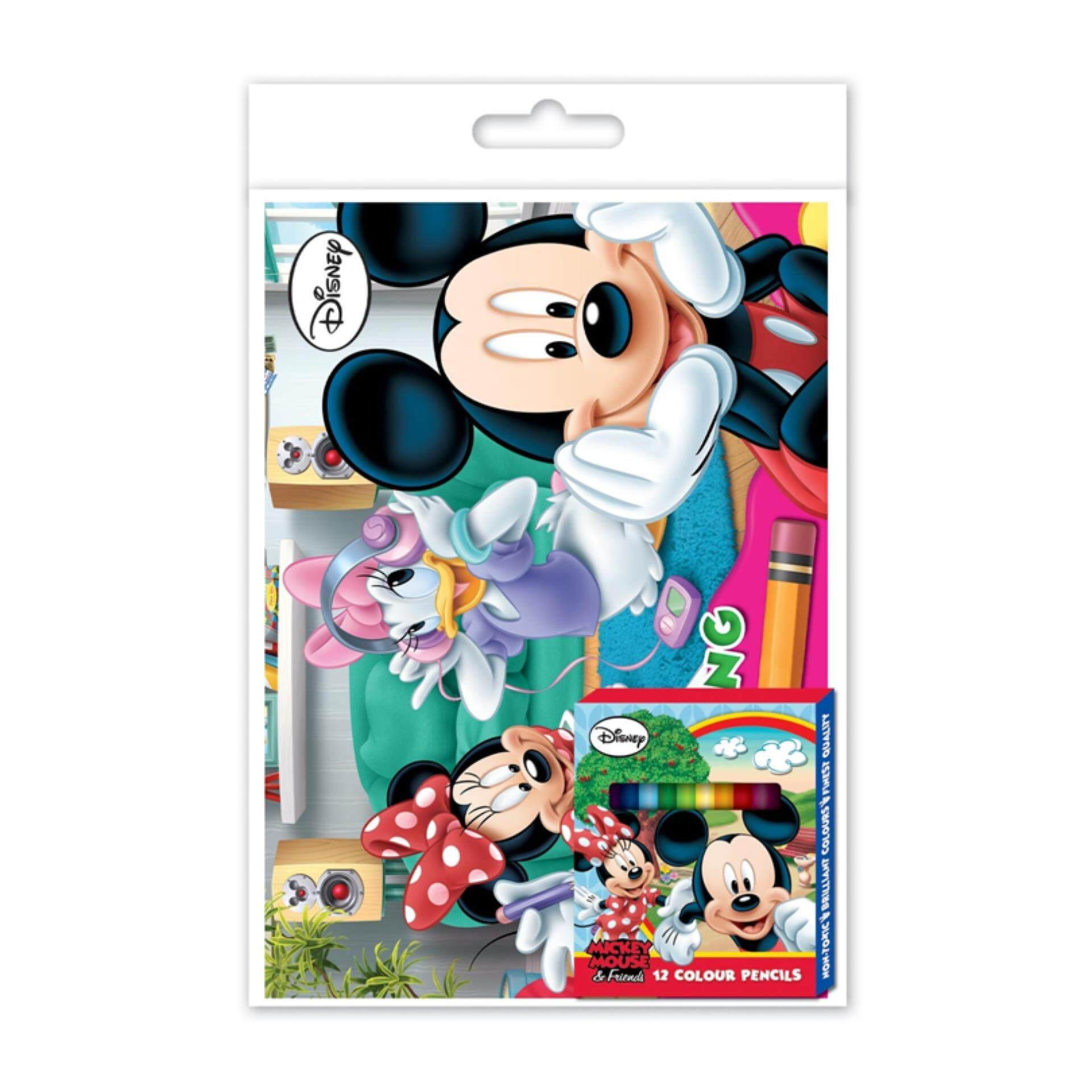 Disney Mickey Colouring Book Set - Multicolour