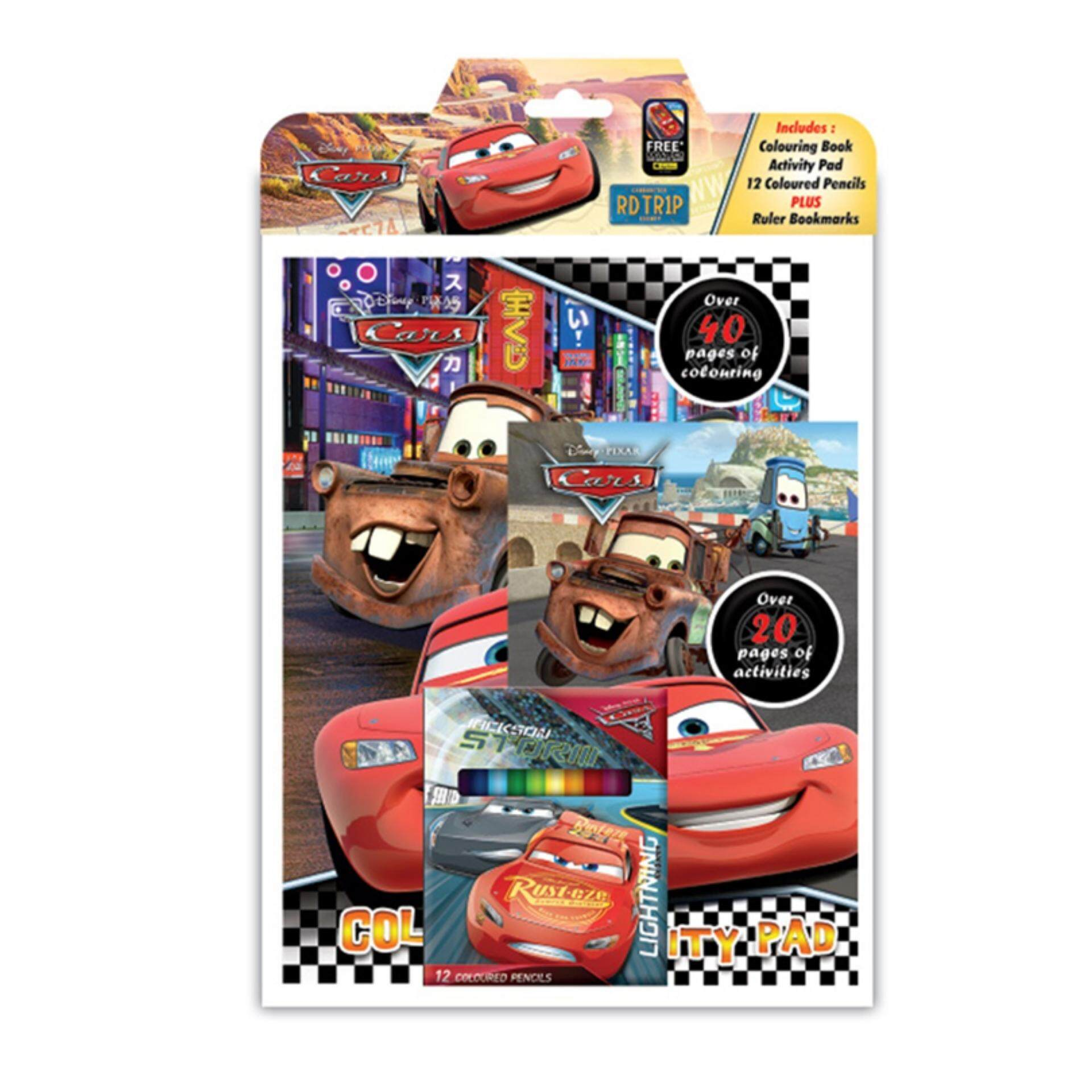 Disney Pixar Cars 3 Colouring Book With Activity Pad Set - Mcqueen