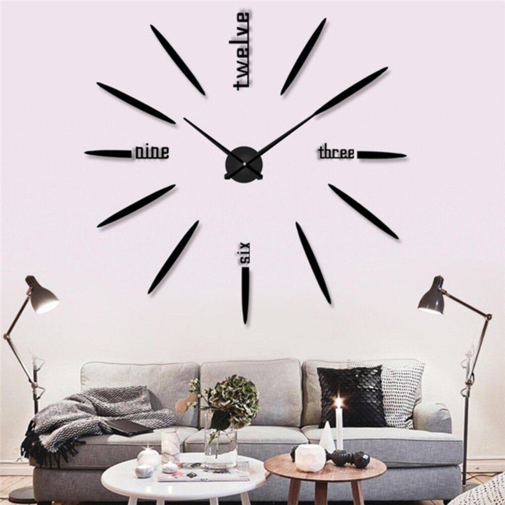 Fitur Jam Dinding 3d Besar Untuk Ruang Tamu Hiasan Diy Dan Harga