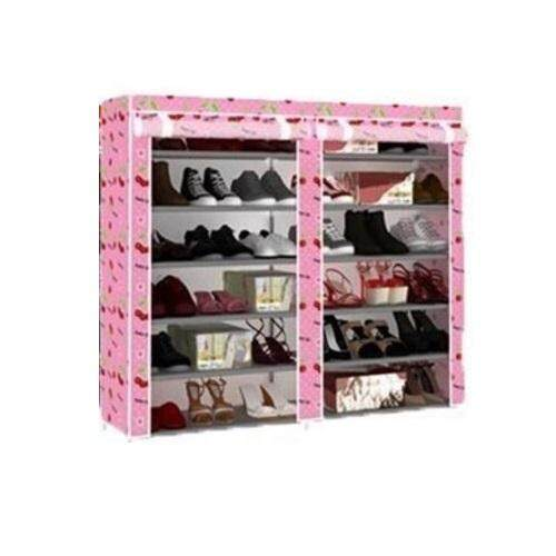 DIY Shoe Rack Pink