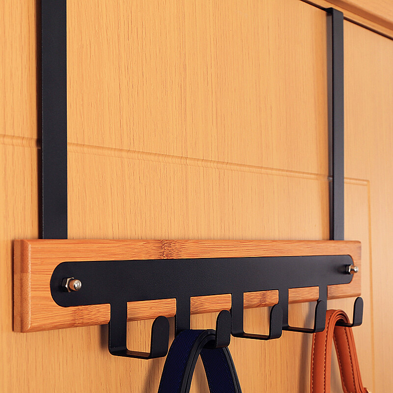 Door back-storage rack adhesive hook