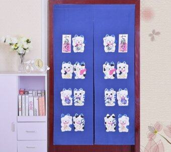 Awesome Door Cloth Curtain Japanese Style   Blue