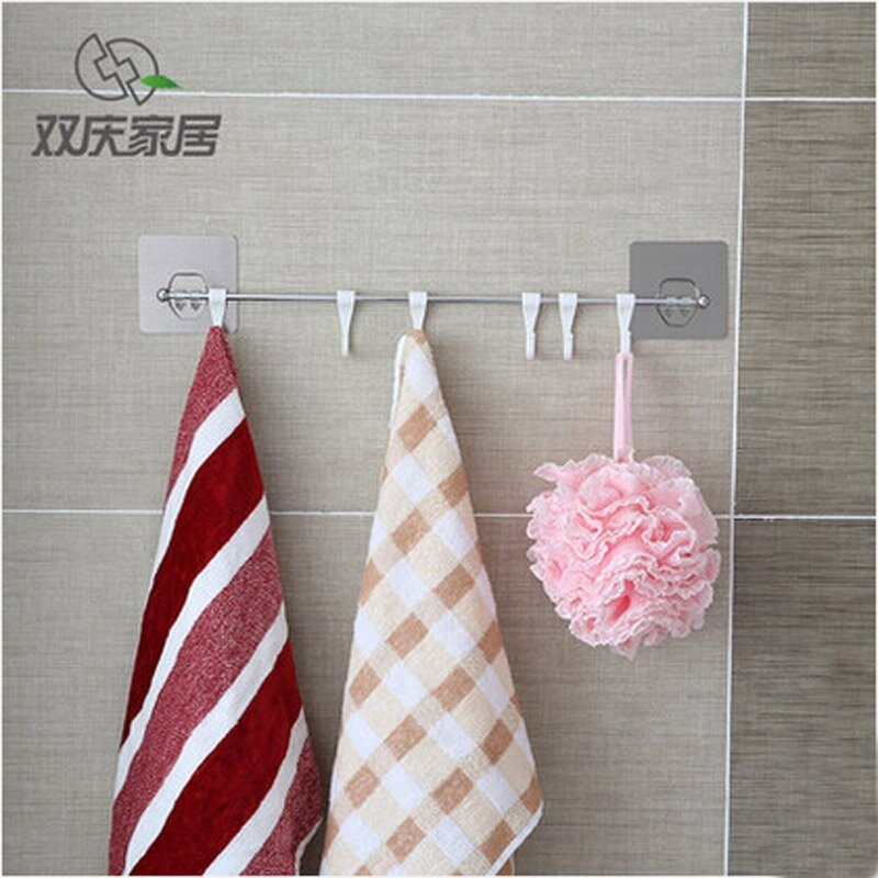 Double celebration seamless magic hook kitchen strong seamless Wall Waterproof Adhesive hook-free nail bathroom hook door after the hook