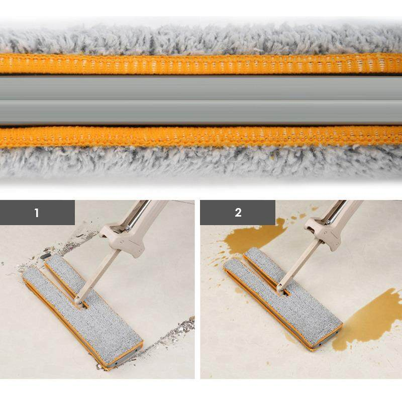 Double Sided Microfiber Mop Free 2 Cloth