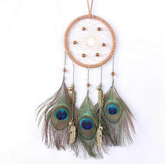 Dream Catcher Circular Net Peacock Feathers Wall Hanging Car Hanging Decor