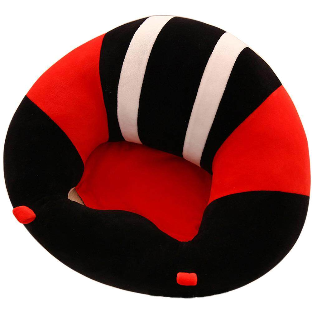 DSstyles Soft Comfortable Baby Support Seat Sofa Creative Learn Sit Soft Chair Cushion Sofa Plush Pillow Toys Keep Sitting Posture for Baby Style:black - intl