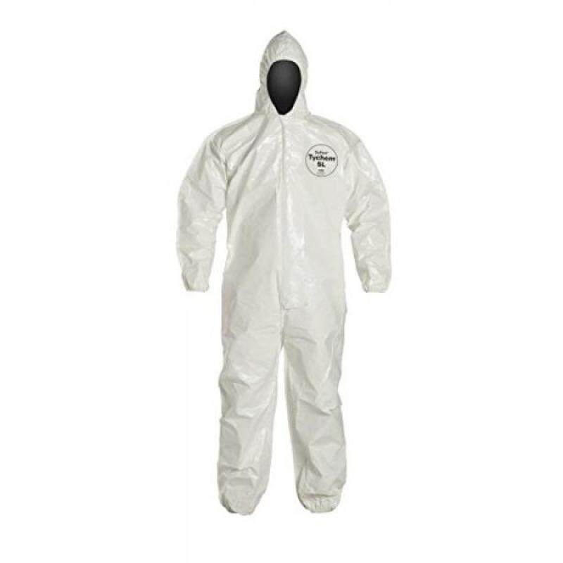 Buy DuPont Tychem SL127B SL Disposable Coverall with Hood & Elastic Cuffs, White (2X-Large) Malaysia