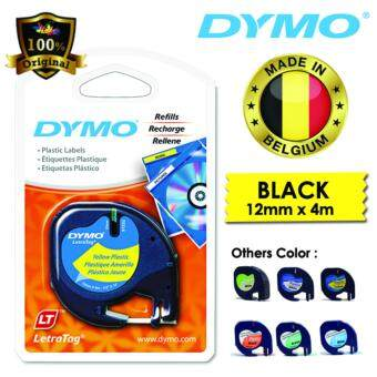 Harga Dymo LetraTag Label Marker Tape Refill 12mm x 4m- Plastic Yellow