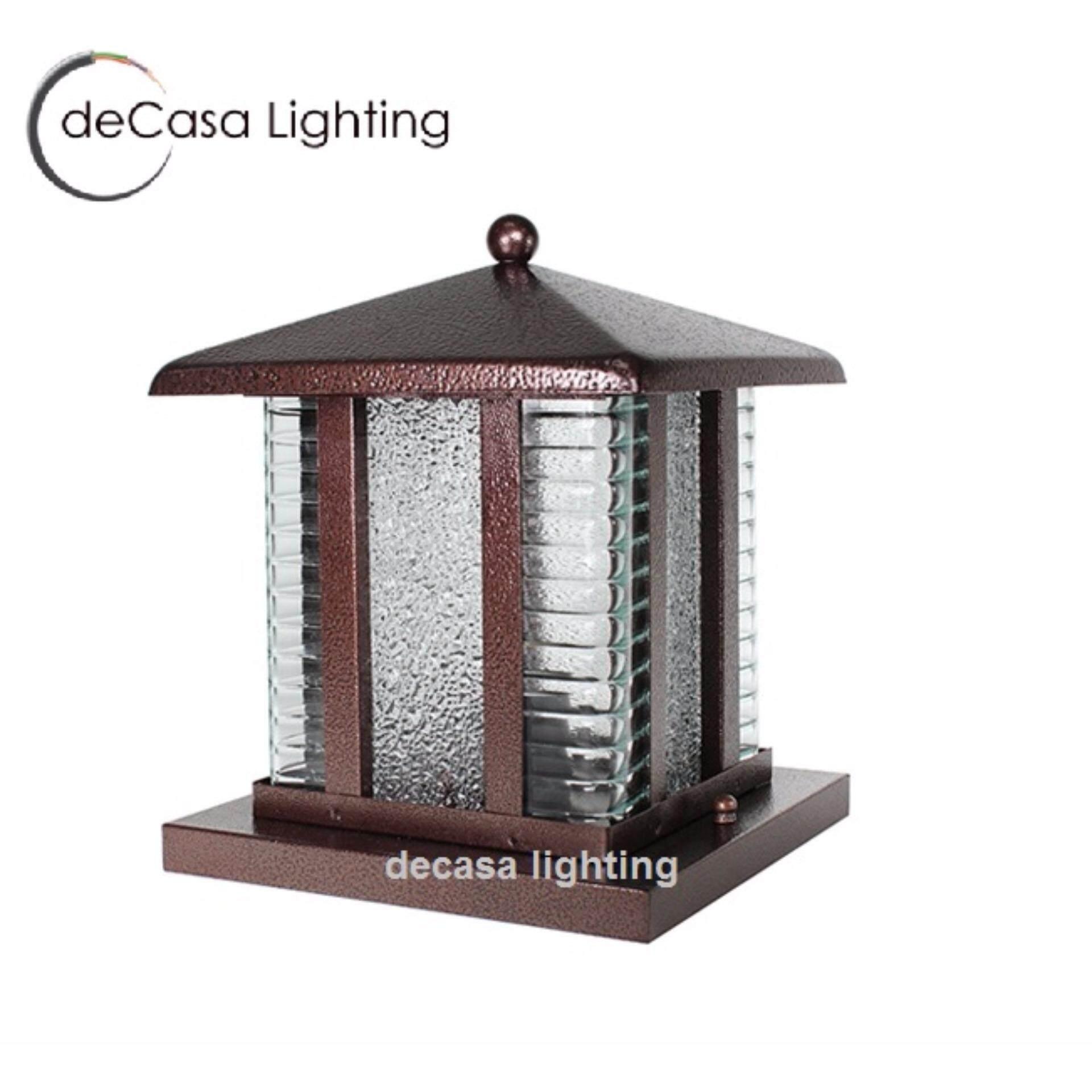 E27 Lamp Holder Decasa Outdoor Pillar Light Weather Proof Gate 12 Inch Best Er Garden Lighting