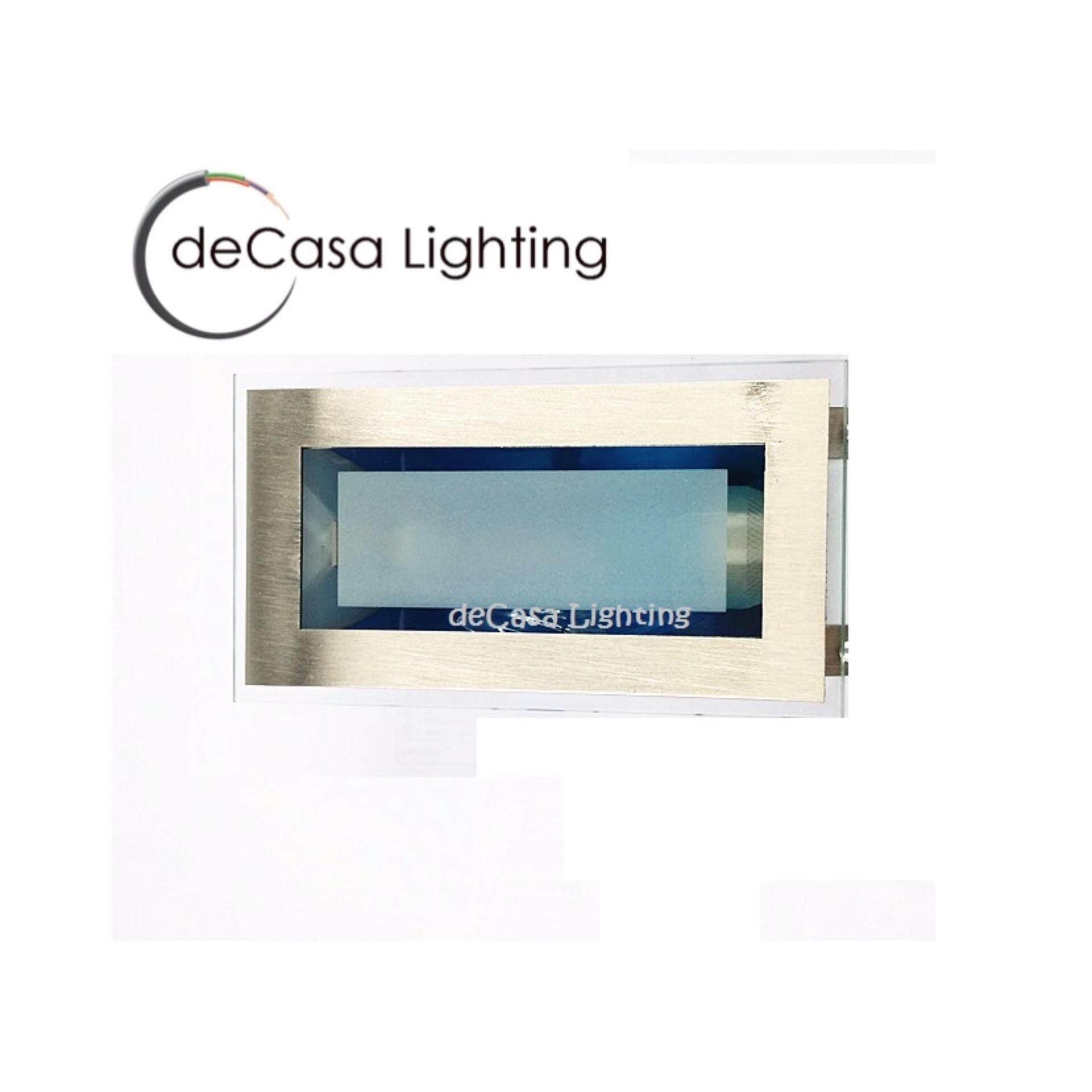E27 Lamp Holder Recessed Ceiling Light Downlight Square DECASA  DOWNLIGHT CEILING LIGHT (NSB-BY203-2X3-SV)