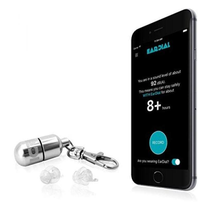 Buy EarDial -The Invisible Smart Earplugs for Live Music- Discreet High-Fidelity Hearing Protection with Companion Mobile App. Perfect for Concerts, Nightclubs, Festivals, Musicians, or Loud Social Events Malaysia