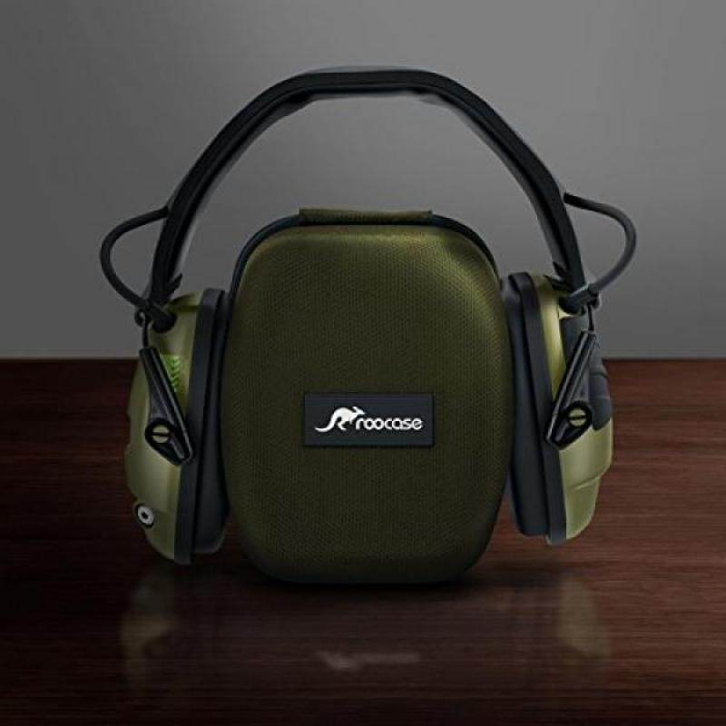 Buy Earmuff Case, Howard Leight Hard Case, rooCASE EVA Hard Protective Travel Storage Carrying Case for Howard Leight by Honeywell Impact Sport Sound Amplification OD Electronic Earmuff R-01526, Green Malaysia