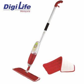 Easy Heavy Duty Spray Mop with Microfiber Mop Pad Floor Cleaning WYL09 (Red)