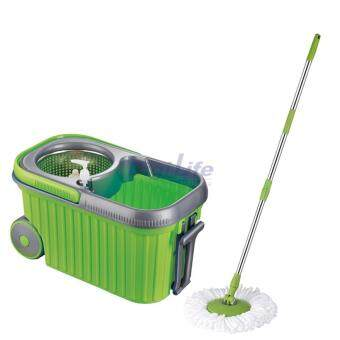 Harga Easy Mop with Wheels & Stainless steel basket