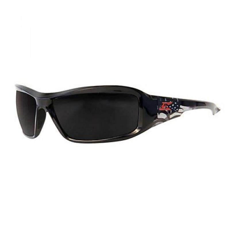 Edge Safety Glasses Brazeau Patriot Smoke Lens Black