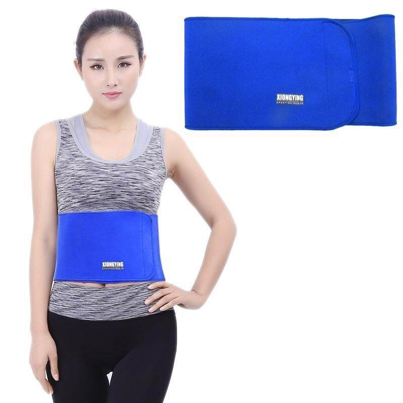 Buy Elastic Sports Thermal Waist Support Guard, Size: 17 X 95cm(Blue) Malaysia