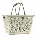 (LZ) Elegant Carved Art Shopping Basket with Lid