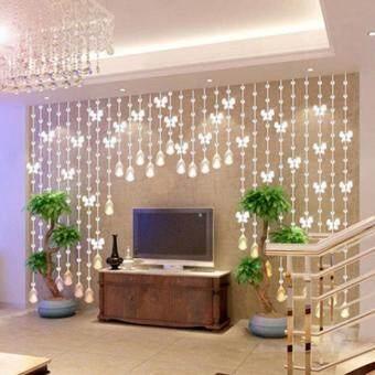 Elife Romantic Drop-shaped Crystal Pendant Curtain Bead Home Wedding Decor