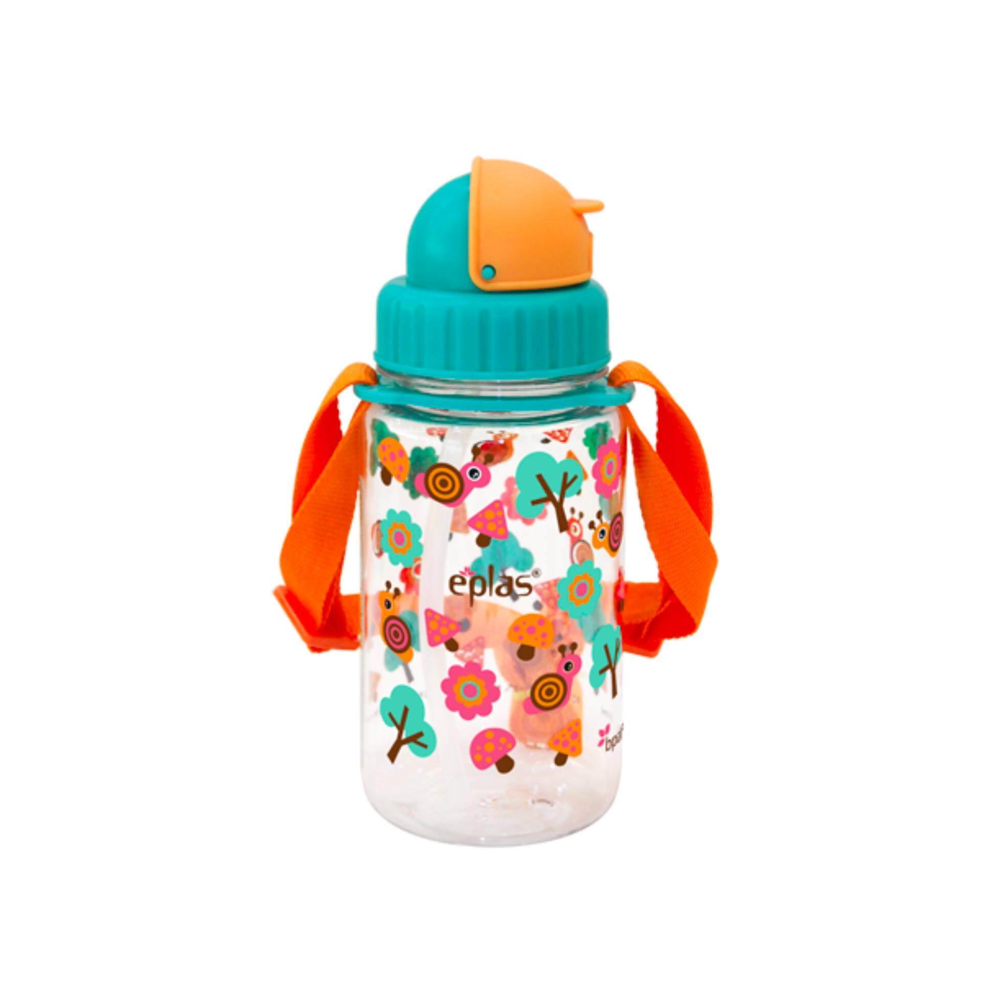 Eplas 350ml BPA Free Water Bottle with Straw