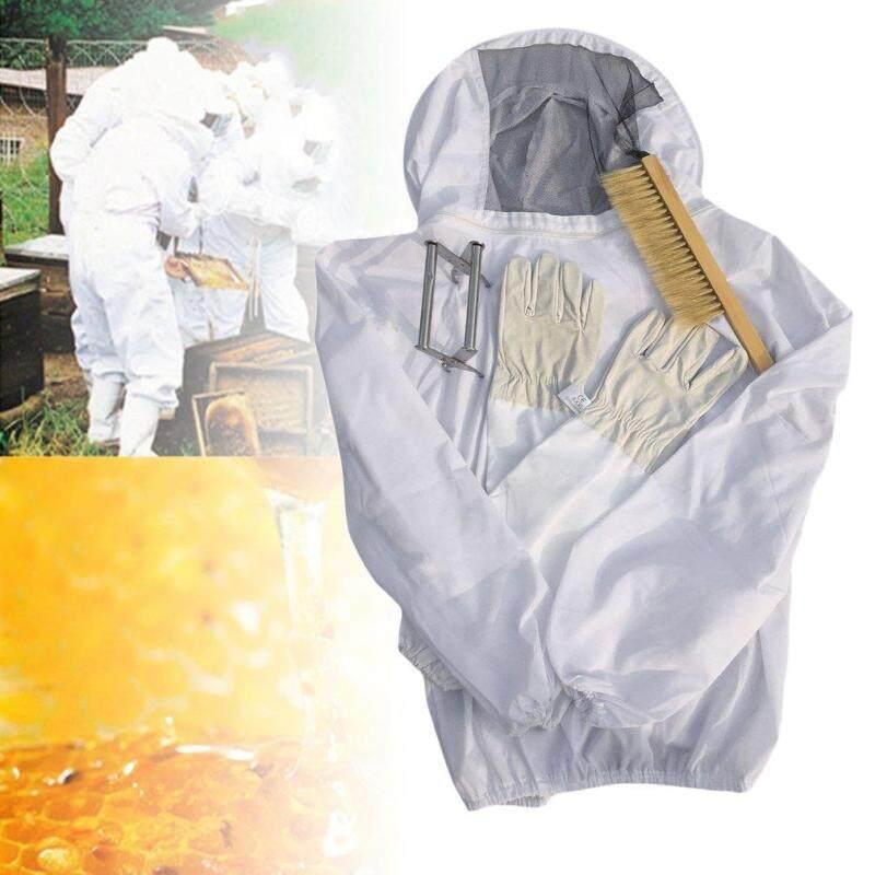 ERA 4PCS/SET Beekeeping Suit Tool Set Beekeeping Jacket+Brush+Lifter+Gloves Set