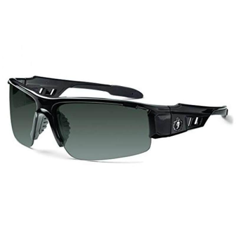Ergodyne Skullerz Dagr Polarized Safety Sunglasses- Black Frame, Smoke Lens