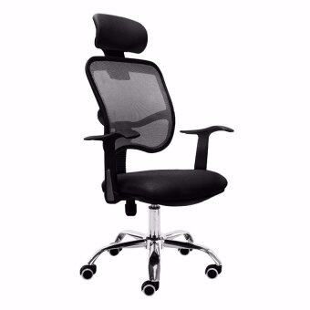ergonomic high back mesh swivel office chair (black) | lazada malaysia