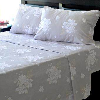Harga Essina 100% Cotton Areni Collection 500TC Fitted Bed sheet setFLORAL FLOW