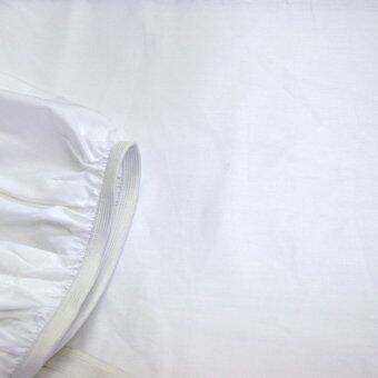 Essina Candies White 100% Cotton Fitted Bedsheet set with Quilt Cover - 3