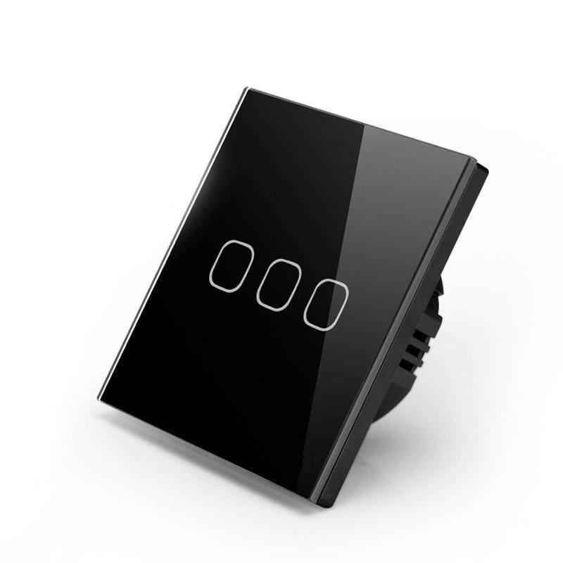 Buy EU Standard Lamp Switch Smart Touch Screen Crystal Glass Panel Wall Switch Malaysia