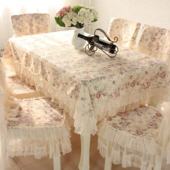 European garden table cloth chair cover cushion suit coffee table cloth lace dining chair set tablecloth chair cover cloth