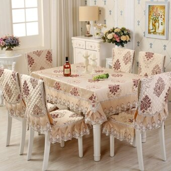 European table cloth dining chair cushion suit dining chair settablecloth chair cushion chair sets European pastoral minimalistmodern