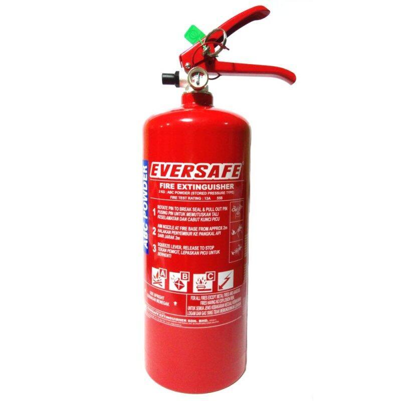 Buy EVERSAFE 3kg Fire Extinguisher ABC Dry Powder Malaysia