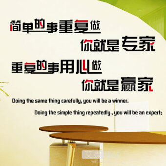 Harga Expert winner Business Culture School dormitory wall stickers