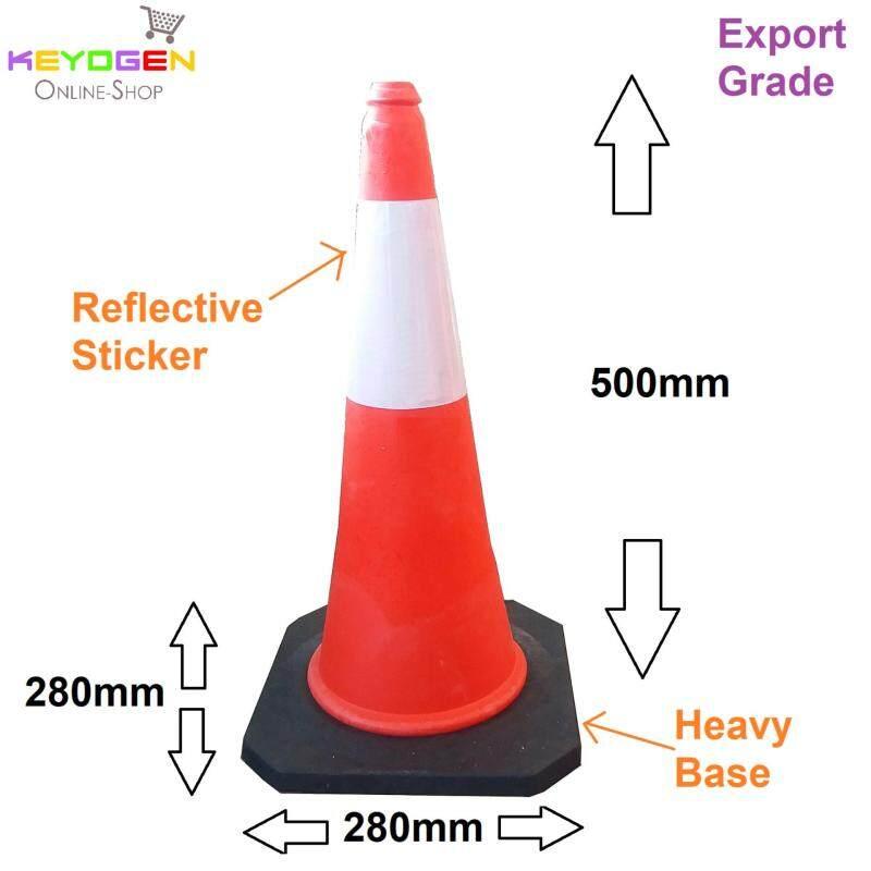 Buy Export grade parking cone traffic block reflective safety standard cones Malaysia