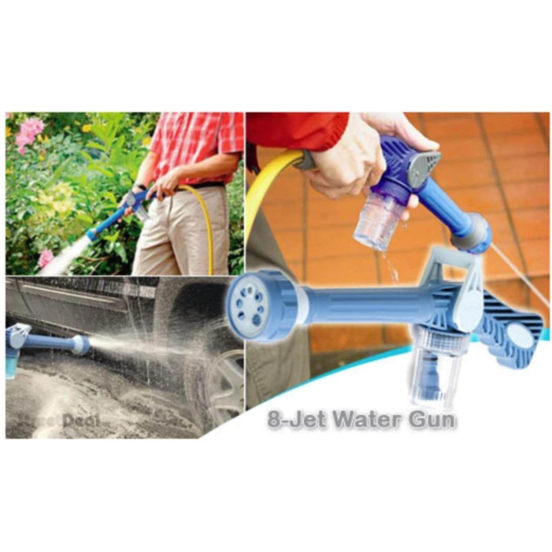 EZ Jet Water Cannon.Multi Function Water Soap Cannon Dispenser Nozzle Spray Gun Cleaning Car Wash