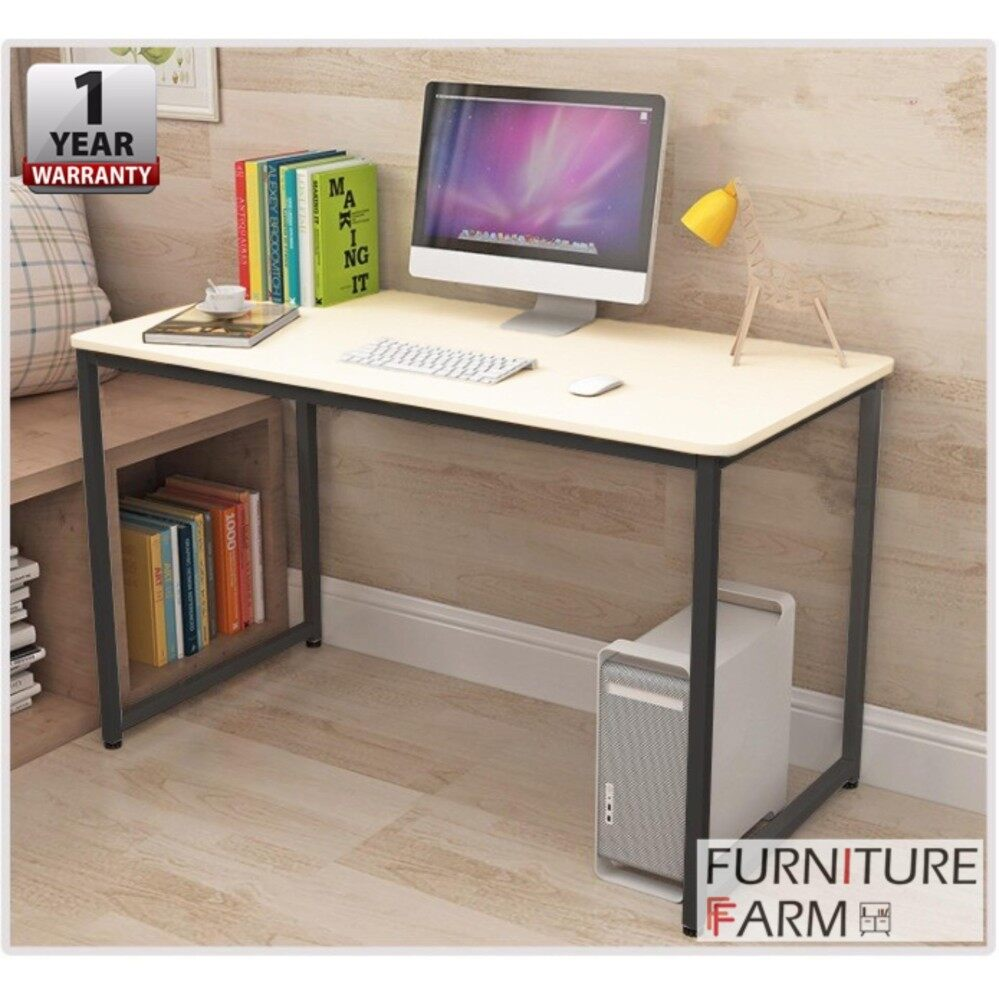 workstation black f aesthetics frame with top desk table malaysia ff steel fampf wooden