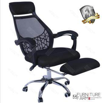F&F: F??gelbo Designer Black Frame High Back Office Chair WithStealth Retractable Leg Rest