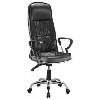 F&F: Fully Assembled PU Leather Luxury Director Office Chair[Black]