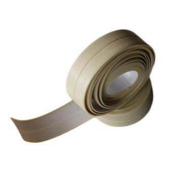 Fancyqube PVC Kitchen Bathroom Wall Sealing Tape Waterproof MoldProof Adhesive Tape Paste Brown - 2