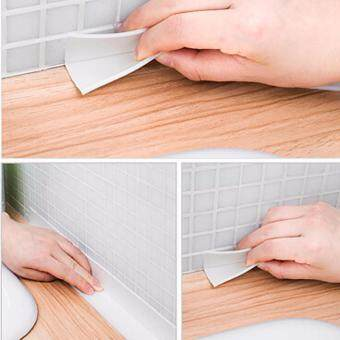 Fancyqube PVC Kitchen Bathroom Wall Sealing Tape Waterproof MoldProof Adhesive Tape Paste Brown - 5